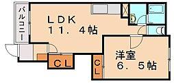 カーサフェリーチェ[1階]の間取り