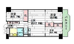 アーク江坂[7階]の間取り