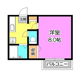 サントピアKII[1階]の間取り