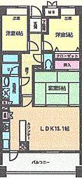 ガーデンスクエア泉 3階3LDKの間取り