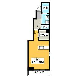 フィオーレK.S[1階]の間取り