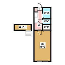 ホワイトキャッスル遠見塚15番館[2階]の間取り