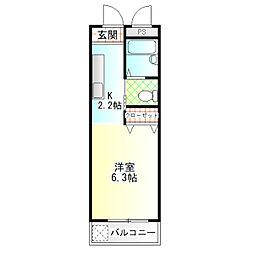 パラシオ小田原[3-E号室]の間取り