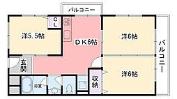 甲子園ドウエル[33号室]の間取り