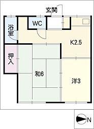 陽明荘[2階]の間取り
