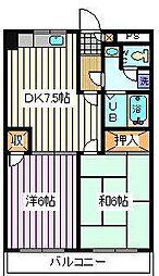 埼玉県さいたま市桜区田島4丁目の賃貸マンションの間取り