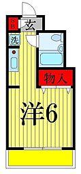 パレ・ドール亀有II[408号室]の間取り