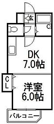 北海道札幌市中央区宮の森三条6丁目の賃貸マンションの間取り