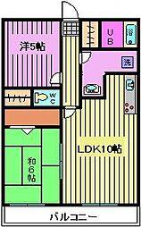 ミレニアム北浦和B棟[2階]の間取り