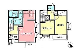 [テラスハウス] 神奈川県横浜市都筑区中川3丁目 の賃貸【/】の間取り