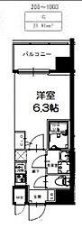 S-RESIDENCE新大阪Ridente[803号室号室]の間取り