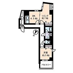 ソレイユ駒沢[5階]の間取り