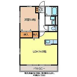 レトアJX中御所[2階]の間取り