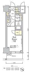 東京メトロ南北線 麻布十番駅 徒歩7分の賃貸マンション 3階1Kの間取り