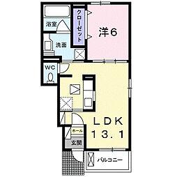 埼玉県鴻巣市北根の賃貸アパートの間取り