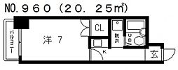 シティーハイツ鳴門[4階]の間取り