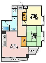 東京都江戸川区上篠崎4丁目の賃貸マンションの間取り
