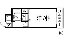 兵庫県川西市西多田2丁目の賃貸マンションの間取り