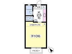 JR成田線 酒々井駅 徒歩4分の賃貸アパート 2階1Kの間取り