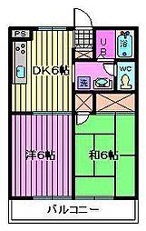 埼玉県川口市大字木曽呂の賃貸アパートの間取り