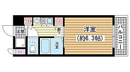 エステムコート神戸ハーバーランド前II[903号室]の間取り
