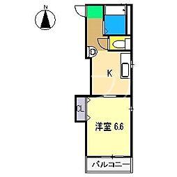 レジデンスさくら[2階]の間取り