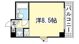ライオンズマンション神戸西元町[501号室]の間取り