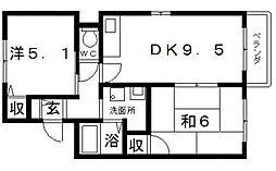 US-1住吉東[3階]の間取り