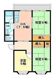 神奈川県川崎市宮前区神木本町1丁目の賃貸マンションの間取り
