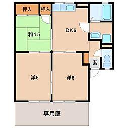 和歌山県和歌山市井辺の賃貸アパートの間取り