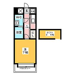 エステートモア箱崎II[7階]の間取り