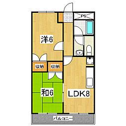 京都府京都市南区久世上久世町の賃貸アパートの間取り