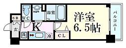 プレサンス新大阪イオリア 2階1Kの間取り