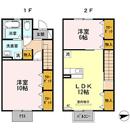 GARDEN HOUSE SHIMOAKAE B棟[102号室]の間取り