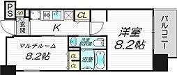 エステムプラザ梅田・中崎町IIIツインマークス サウスレジデンス[4階]の間取り