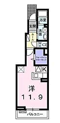サニー ガーデン II[101号室]の間取り