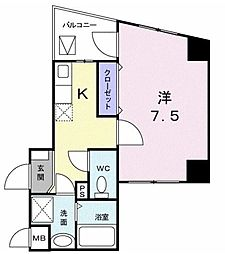 東京都世田谷区上北沢4丁目の賃貸マンションの間取り