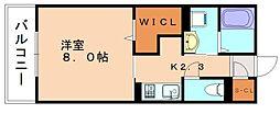 福岡県糟屋郡粕屋町大字大隈の賃貸アパートの間取り