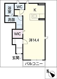 アンジェの郷A[1階]の間取り