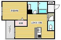 シャーメゾンクレイドル[2階]の間取り