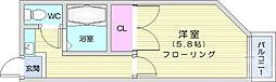仙台市地下鉄東西線 八木山動物公園駅 徒歩16分の賃貸アパート 2階1Kの間取り