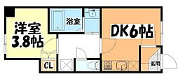 JR東北本線 長町駅 徒歩3分の賃貸アパート 1階1DKの間取り