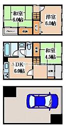 [一戸建] 大阪府東大阪市御厨栄町2丁目 の賃貸【/】の間取り