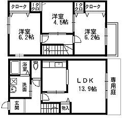 [テラスハウス] 大阪府和泉市箕形町3丁目 の賃貸【/】の間取り