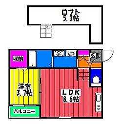 Cloud 9−I[2階]の間取り