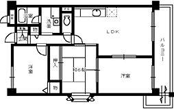 サンクレール高石[2階]の間取り