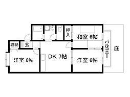 CHATEAU PLAZA[2階]の間取り