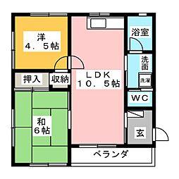 シャリテホサキ[2階]の間取り