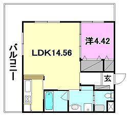 BOWマンション[305 号室号室]の間取り
