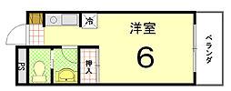 大徳寺温泉マンション[202号室]の間取り